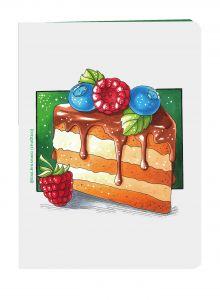 Вкусный блокнот: Кусочек торта