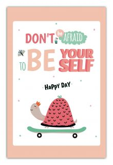 - Don't be affraid to be your self. Happy day (А5) обложка книги
