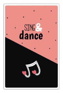 - Sing & dance (А5) обложка книги