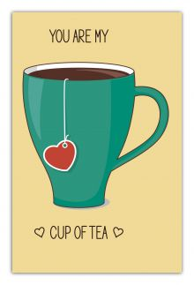 - You are my cup of tea (green cup) (А5) обложка книги