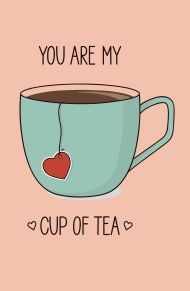 You are my cup of tea (aquamarine cup) (А5) обложка