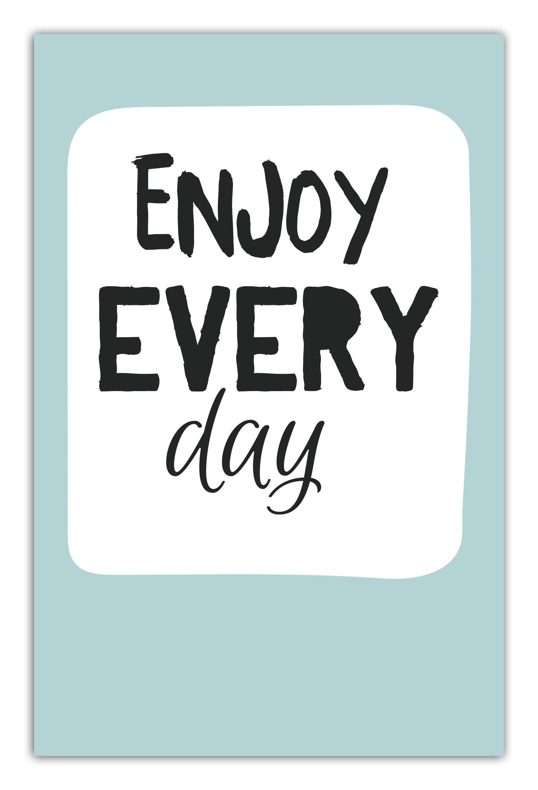 цена  Enjoy every day (light blue) (А5)  онлайн в 2017 году