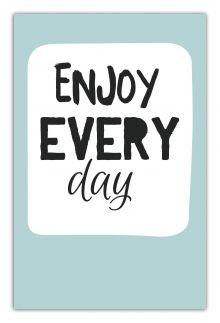 - Enjoy every day (light blue) (А5) обложка книги