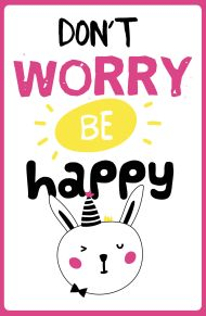 Don't worry be happy (А5) обложка