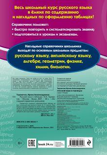 Обложка сзади Русский язык в таблицах И. А. Таровитая