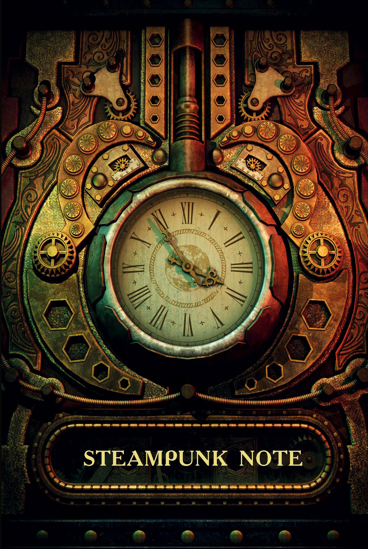 Steampunk Note. Блокнот с тонированными страницами (твердый переплет) от book24.ru