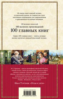 Обложка сзади Отцы и дети Иван Тургенев