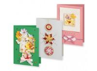 - Наборы для скрапбукинга. Набор для создания 3-х открыток Вальс цветов (129-SB) обложка книги