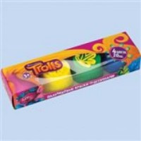 """Пальчиковые краски """"Тролли"""", 4 цветов*20 мл, в картонной коробке 87512"""