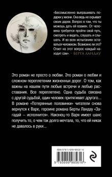 Обложка сзади Потерянные половинки Берта Ландау