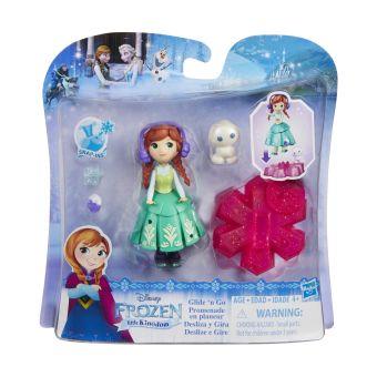 DISNEY FROZEN Маленькая кукла Холодное Сердце на движущейся платформе-снежинке (B9249) DISNEY FROZEN