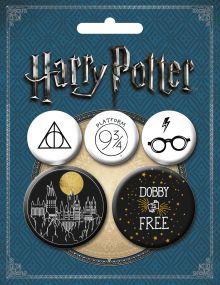 Обложка Набор значков. Гарри Поттер (5 шт.) (оф.2)