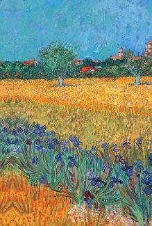 Обложка сзади Обложка для паспорта. Ван Гог. Пшеничное поле (Арте)