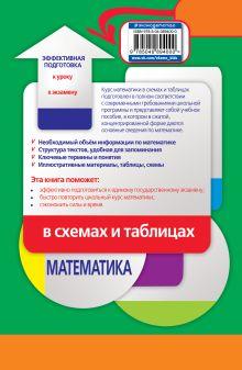 Обложка сзади Математика в схемах и таблицах И. В. Третьяк