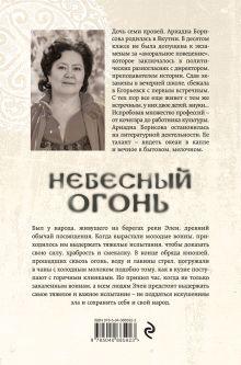 Обложка сзади Небесный огонь Ариадна Борисова