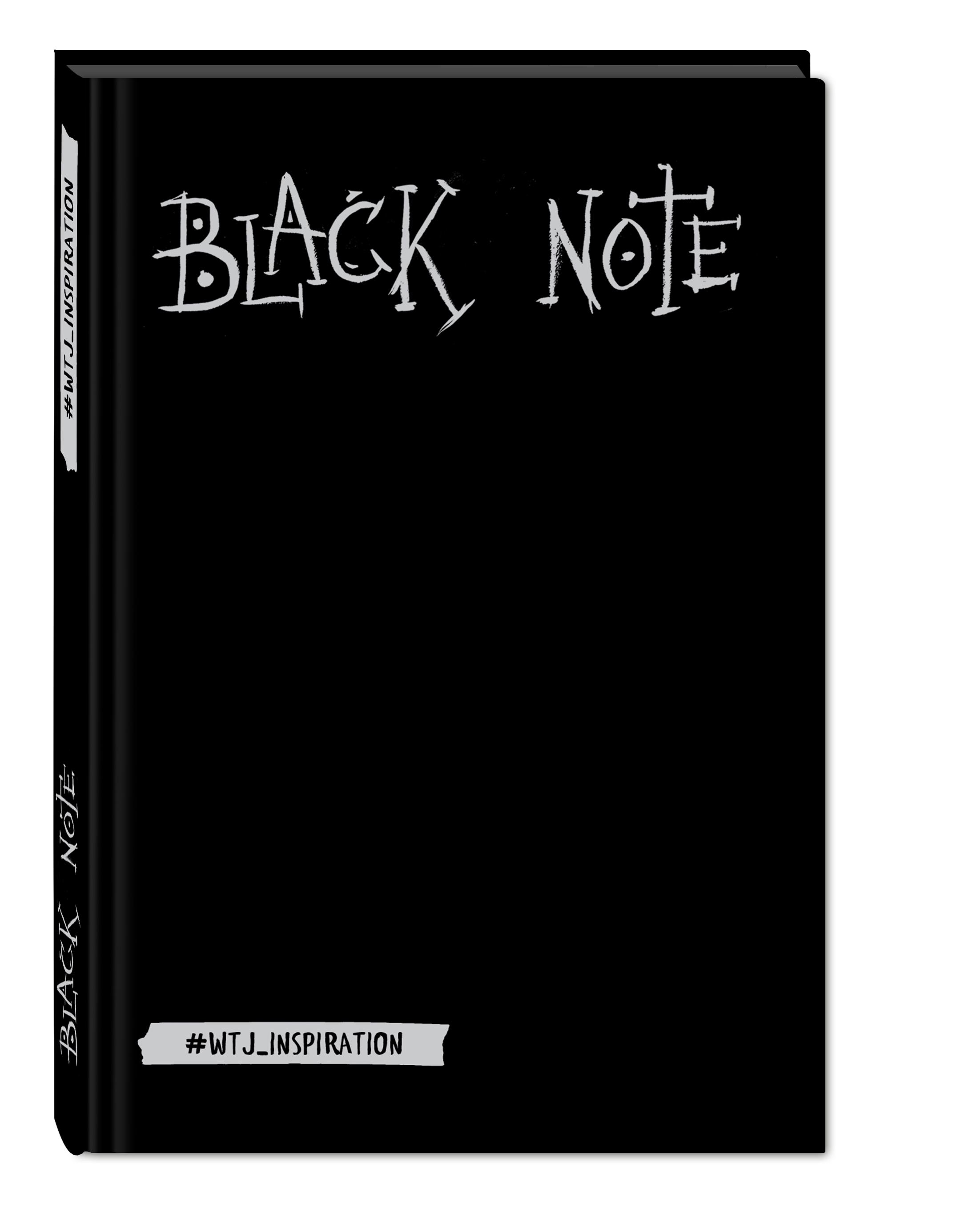 Комплект. Black Note. Креативный блокнот с черными страницами (твердый переплет) + Комплект из 2-х белых ручек и белого карандаша WTJ_INSPIRATION black note