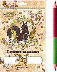 NRS-08S-10P-6/12 Карандаши 6шт/12 цв.Заточенные, европодвес Narnia
