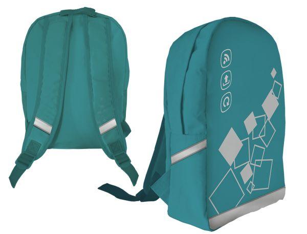 ASBZ-MT1-566 Рюкзак. Одно отделение, два внутренних разделителя, усиленная пенополиуретановой вставкой спинка. Размер 35 х 26 х 10 см, упак. 12 шт.