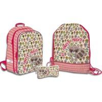 SKEB-UT2-866-SET31 Набор школьника.Рюкзак эргономичный. Пенал для канцелярских принадлежностейю Мешок для обуви. Размер: 39 х 28 х 15 см.Seventeen