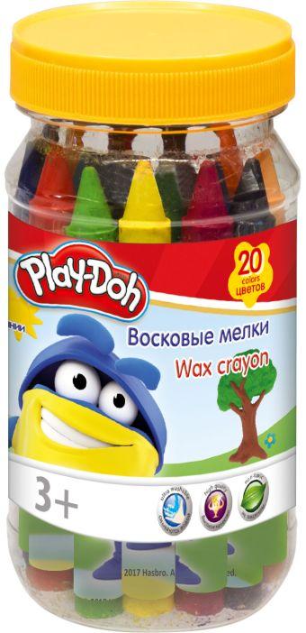 PDEB-US2-BCR-20 Восковые мелки. Набор 20 шт 20 цв, в пластиковой банке.Размер: 12,5 х 6 х 6 см. Play Doh