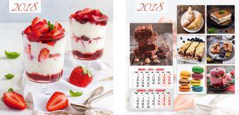 Календарь настенный 2018 скрепка 6л 280*285 8877-EAC Десерты