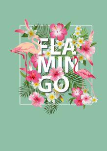 Обложка Блокнот. Фламинго (формат А4, твёрдая обложка, круглые углы) (Арте)
