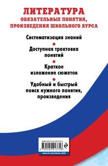 Обложка сзади Литература. Обязательные понятия, произведения школьного курса М. В. Ткачева