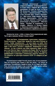 Обложка сзади ШЛА БЫ ТЫ… Заметки о национальной идее. 3-е издание Евгений Сатановский