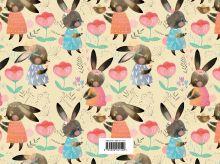 Обложка сзади Зайчики. Альбом для рисования (формат А4, офсет 120 гр., 60 страниц, скрепка)