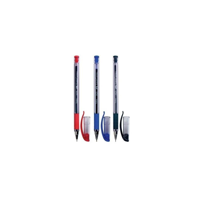 Шариковая ручка 1425, синяя/красная/черная, в полиэтиленовом пакете, 3 шт.