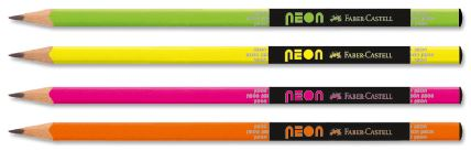 Чернографитовые карандаши NEON, в пластиковой коробке, 72 шт.