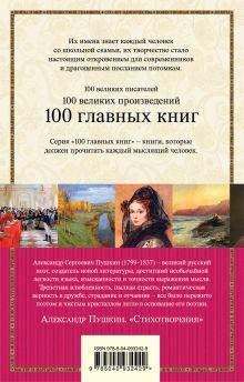 Обложка сзади Стихотворения Александр Пушкин