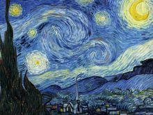 Обложка сзади Кардхолдер, Винсент Ван Гог Звездная ночь (вертикальный, с двумя карманами)