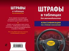 Обложка Штрафы в таблицах для автомобилистов с изм. и доп. на 2018 год (классификация по степени наказания)