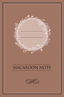 Обложка Блокнот с цветными страницами (шоколад, мягкая обложка, линовка, на скобе)