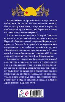 Обложка сзади Забытое сражение Огненной дуги Валерий Замулин