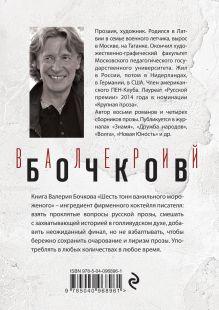 Обложка сзади Шесть тонн ванильного мороженого Валерий Бочков