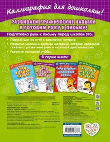 Обложка сзади Учим и пишем цифры О. В. Александрова