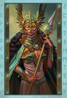 Обложка сзади Викинги. Рунический оракул (45 карт и руководство в коробке) Стейси Демарко