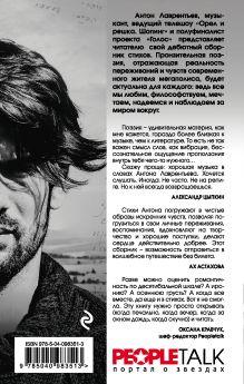 Обложка сзади Косая рифма Антон Лаврентьев
