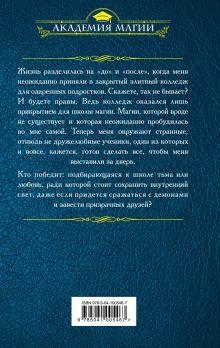 Обложка сзади Закрытая школа магии Екатерина Елизарова
