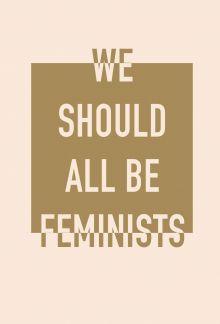 Блокнот. We should all be feminists (формат А5, тонированный блок, лента-ляссе)
