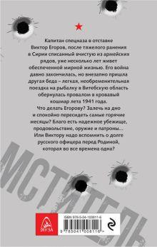 Обложка сзади Мститель. Офицерский долг Валерий Шмаев