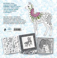 Обложка сзади Ламы. NO DRAMA - COLOR LAMA. Раскраска-антистресс для творчества и вдохновения