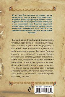 Обложка сзади Судьба княгини Александр Прозоров