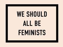 Обложка сзади Кардхолдер. We should all be feminists (в форме книжки, 215х65 мм)