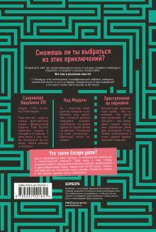 Обложка сзади ESCAPE GAME. Три захватывающих квеста в одной книге Бенджамин Бувен, Реми Приер, Мелани Вивес