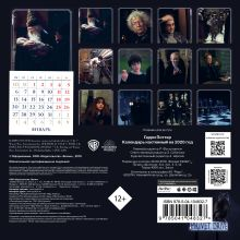 Обложка сзади Гарри Поттер. Календарь настенный на 2020 год (170х170 мм)