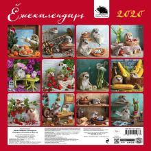 Обложка сзади Ёжекалендарь (мандаринки). Календарь настенный на 2020 год (300х300 мм) Елена Еремина
