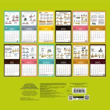 Обложка сзади Wellness календарь от Юлианны Плискиной. Календарь настенный на 2020 год (300х300 мм)